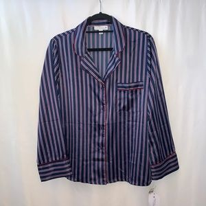 In Bloom By Jonquil Stripe Button Down Pj Shirt